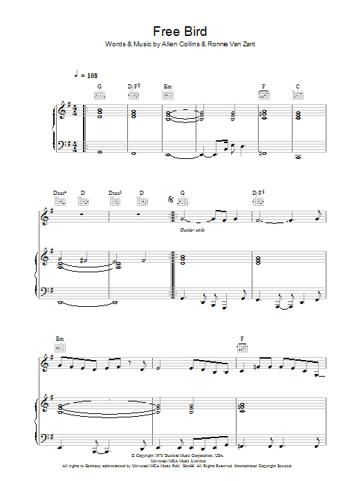 how to play freebird on bass