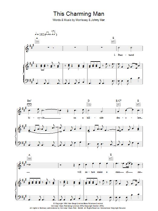 Sheet Music Digital Files To Print - Licensed Johnny Marr Digital ...