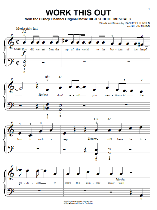 Work This Out sheet music for piano solo (big note book) by Randy Petersen