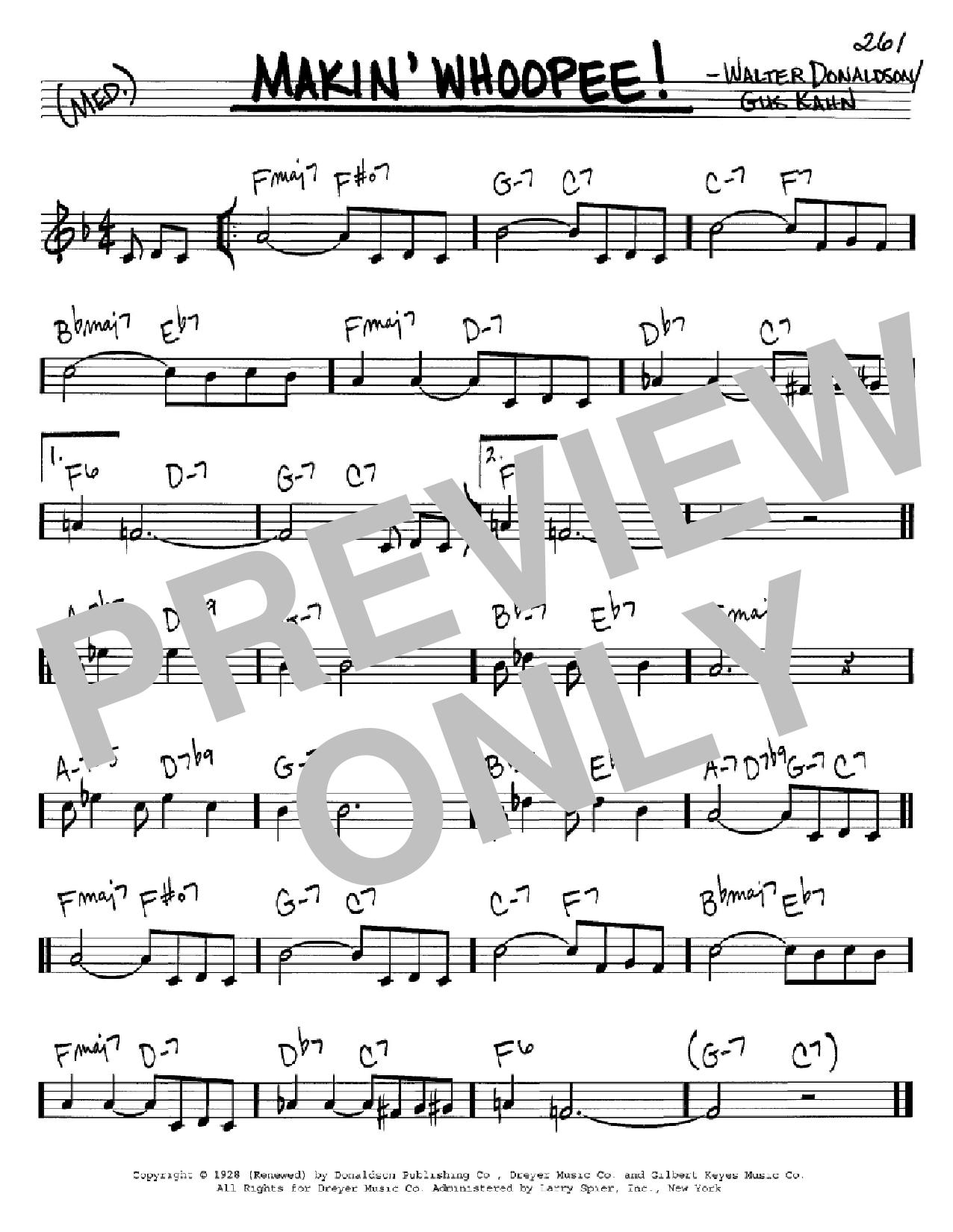 Partition autre Makin' Whoopee! de Gus Kahn - Real Book, Melodie et Accords, Inst. En Do
