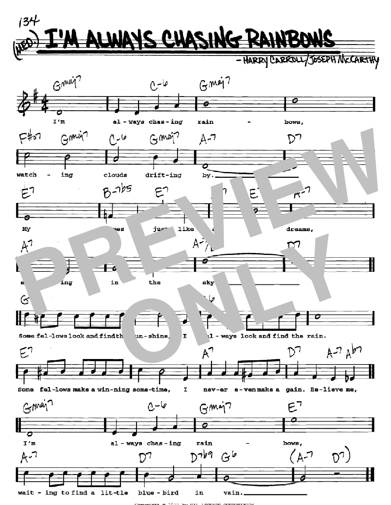 I'm Always Chasing Rainbows sheet music for voice and other instruments (Vocal Volume 2) by Harry Carroll