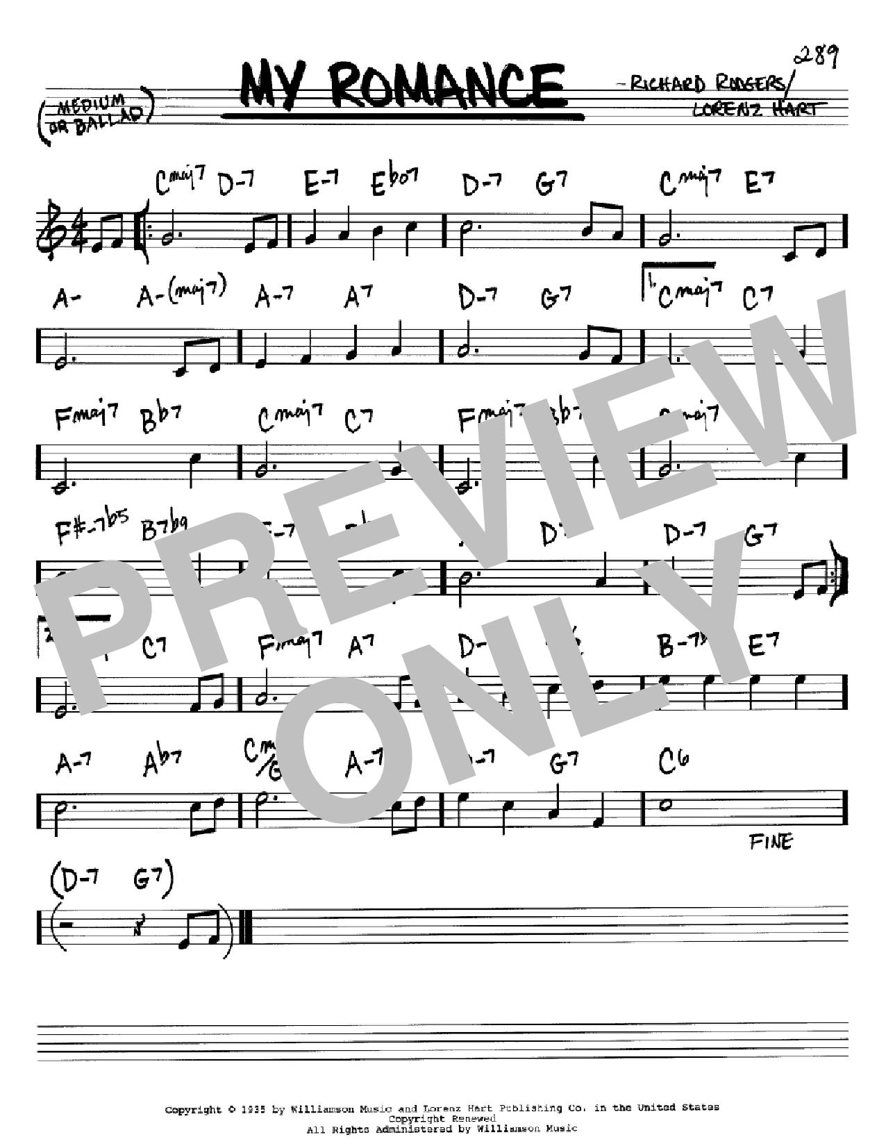 Partition autre My Romance de Rodgers & Hart - Real Book, Melodie et Accords, Inst. En Sib