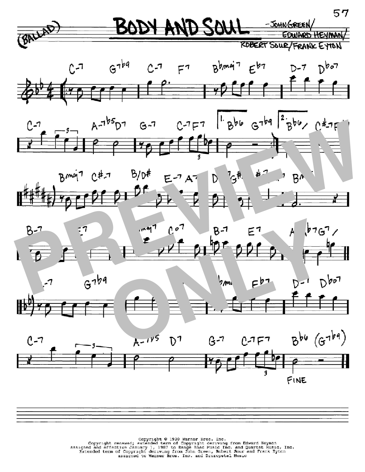 Body And Soul sheet music for voice and other instruments (Eb) by Robert Sour