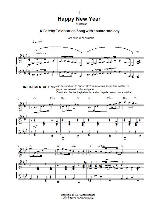 Ноты для фортепиано к новому году