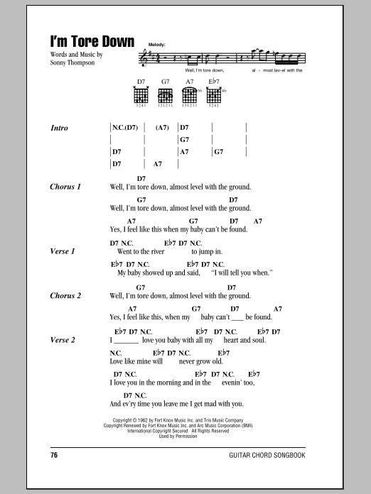 Sheet Music Digital Files To Print - Licensed Sonny Thompson Digital ...