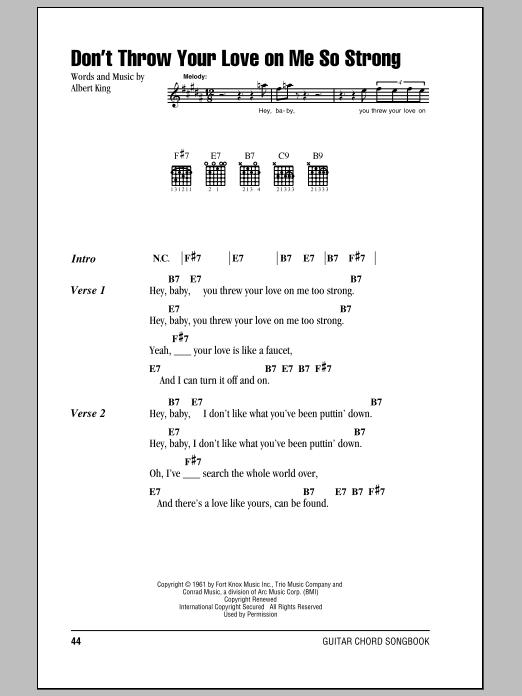 Sheet Music Digital Files To Print - Licensed Albert King Digital ...