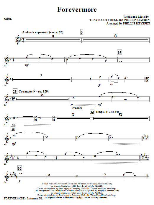 Forevermore - Oboe : Sheet Music Direct