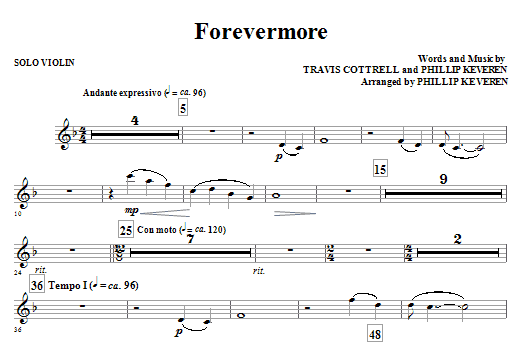 Forevermore - Solo Violin - Sheet Music at Stantonu0026#39;s Sheet Music