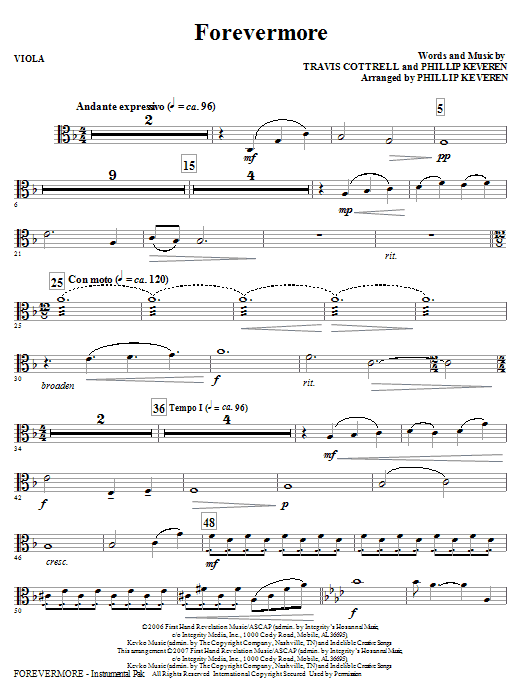 Forevermore - Viola : Sheet Music Direct