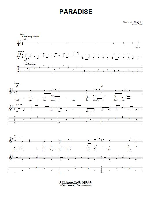 Sheet Music Digital Files To Print - Licensed John Prine Digital ...