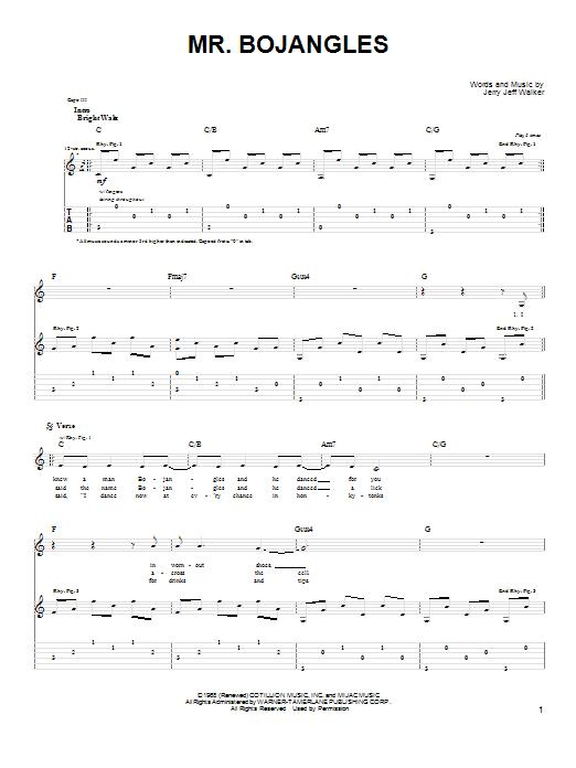 Guitar chords for mr bojangles