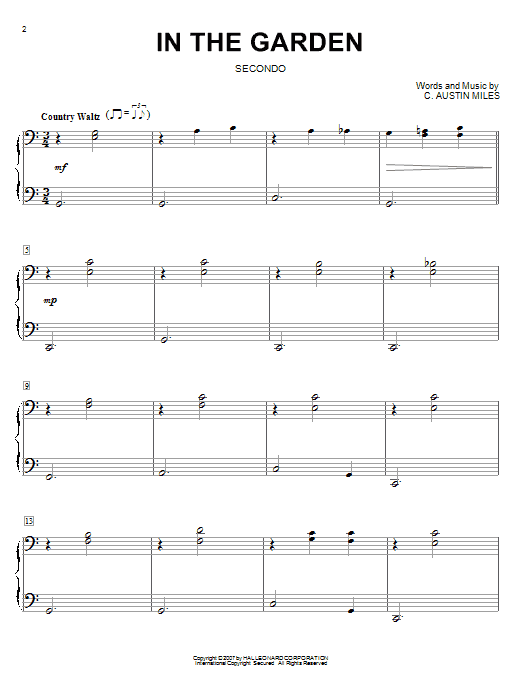 Sheet Music Digital Files To Print - Licensed C. Austin Miles ...