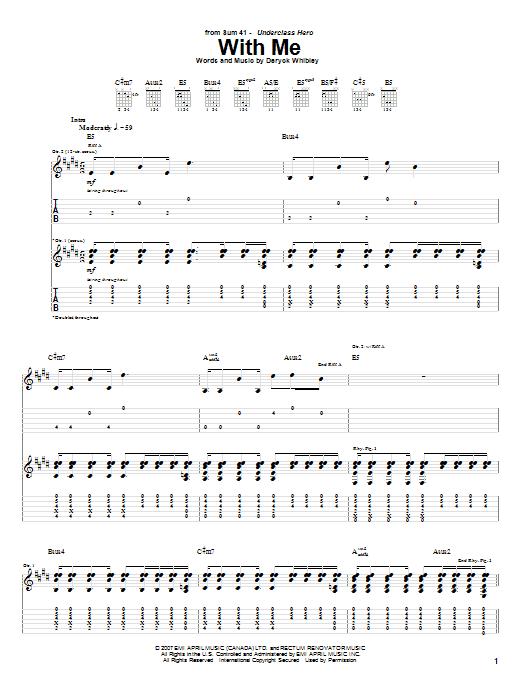 partition guitare sum 41 pieces