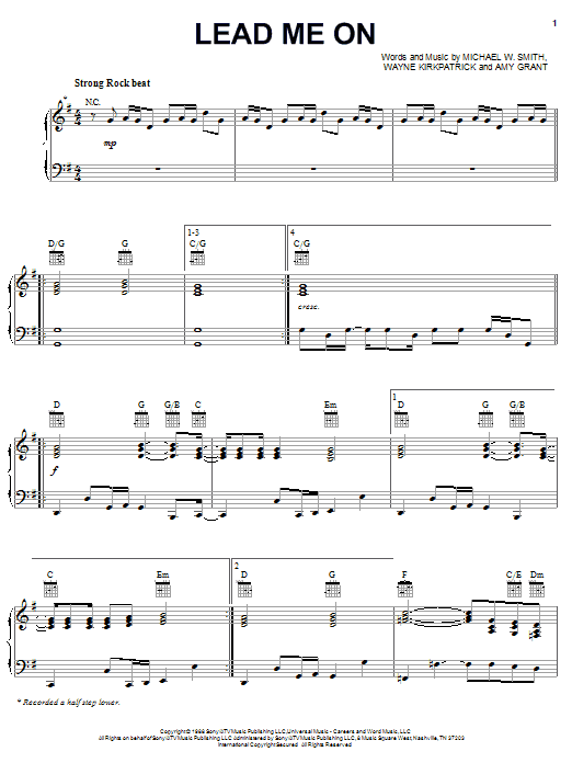 Lead Me On | Sheet Music Direct
