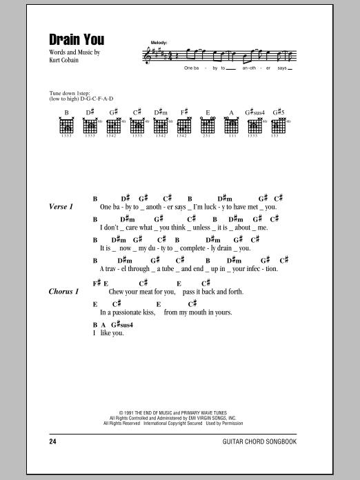 Sheet Music Digital Files To Print - Licensed Nirvana Digital Sheet ...