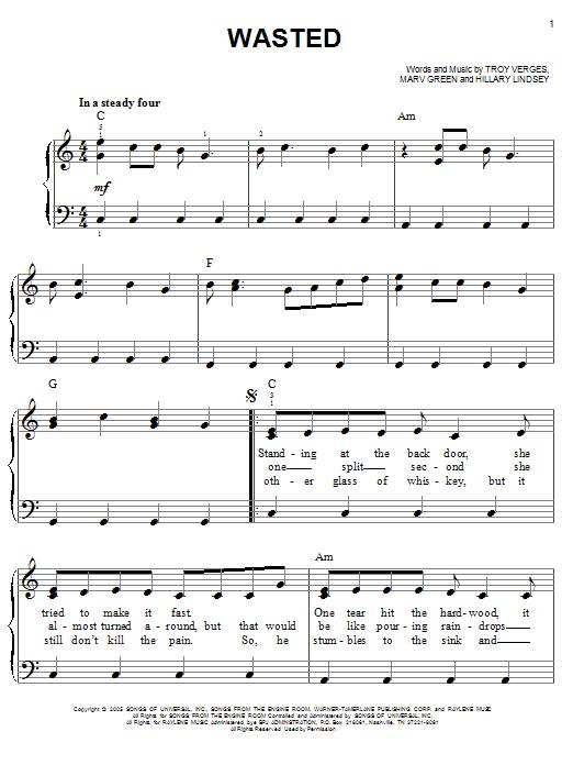 Wasted underwood lyrics
