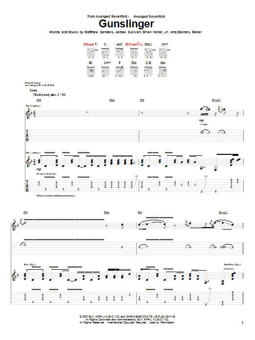 Avenged Sevenfold: Victim - Guitar Tab Images - Frompo