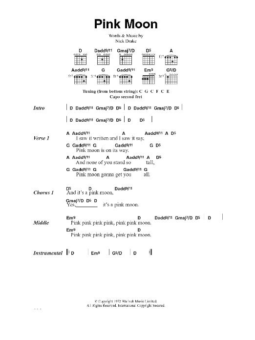 Sheet Music Digital Files To Print - Licensed Nick Drake Digital ...