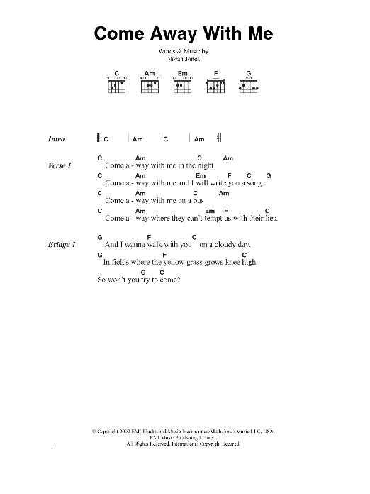 Sheet Music Digital Files To Print - Licensed Norah Jones Digital ...