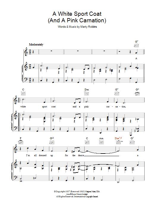 Sheet Music Digital Files To Print - Licensed Marty Robbins Digital ...