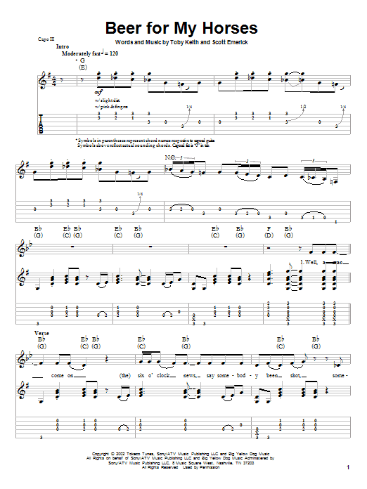 Sheet Music Digital Files To Print Licensed Guitar Tab Play Along