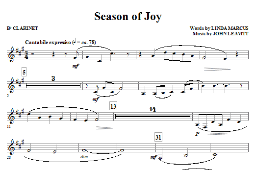 Season Of Joy (COMPLETE) sheet music for orchestra/band (Special) by John Leavitt