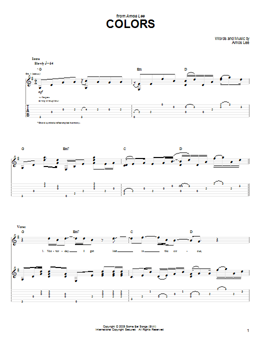 Colors : Sheet Music Direct