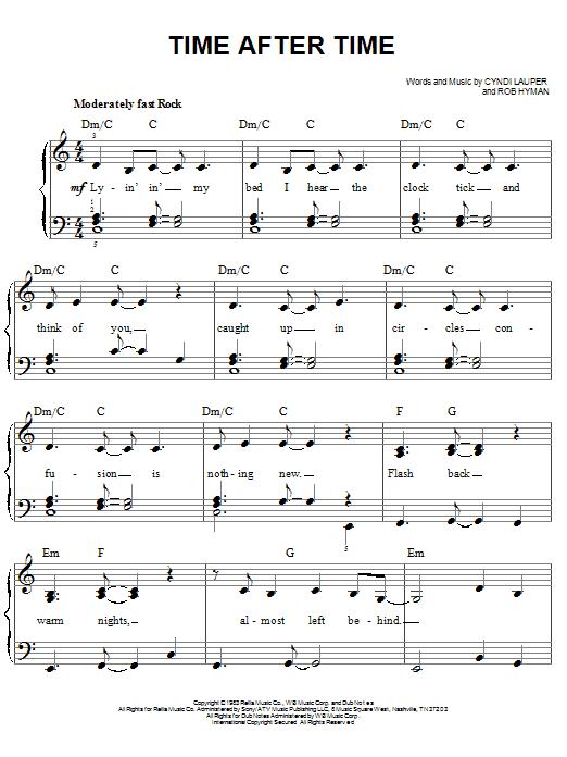 time after time sheet music free pdf