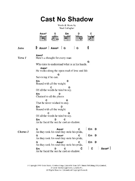 Sheet Music Digital Files To Print - Licensed Oasis Digital Sheet Music