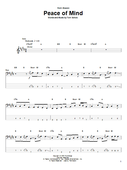 Sheet Music Digital Files To Print - Licensed Boston Digital Sheet Music