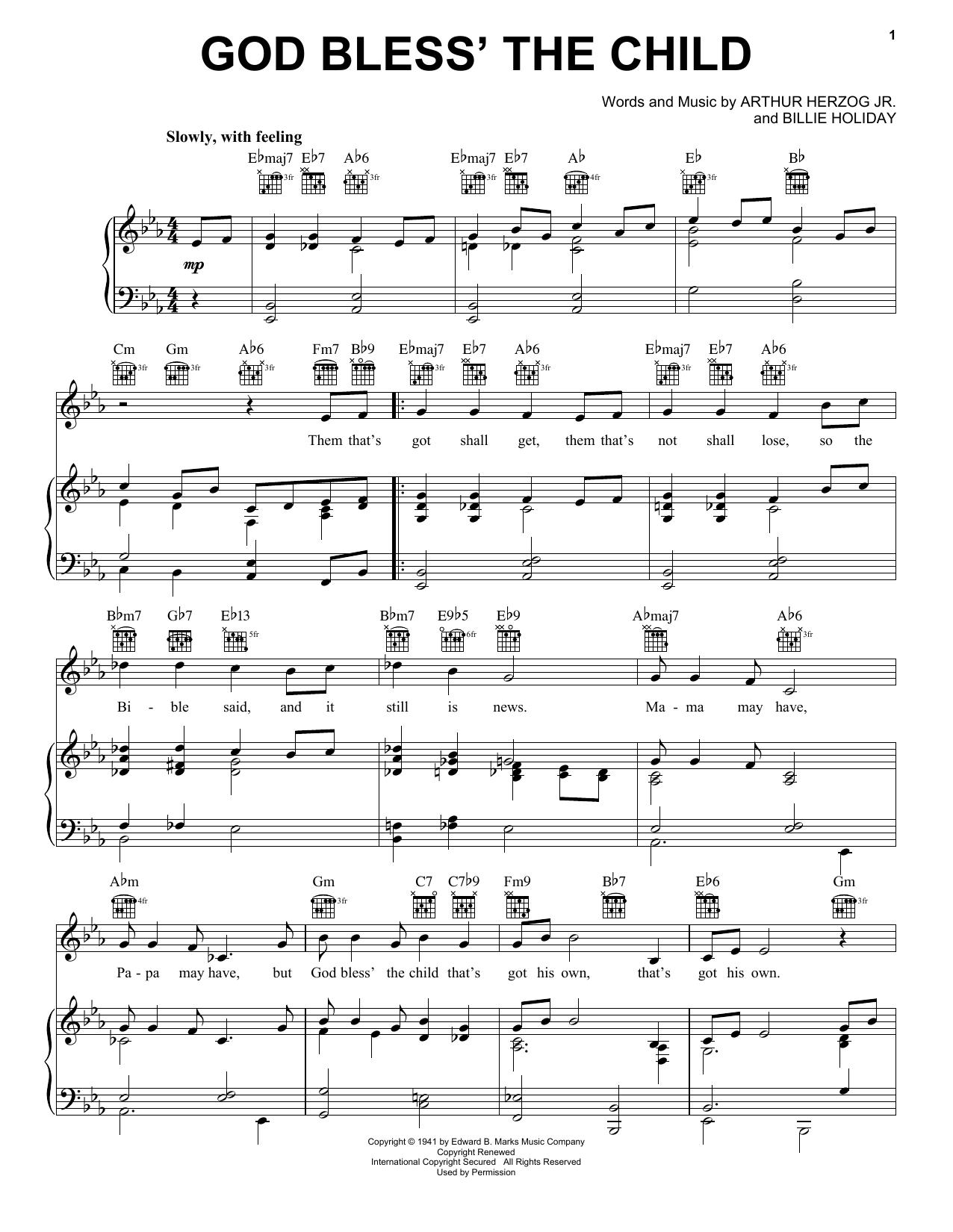 Sheet Music Digital Files To Print Licensed Billie Holiday Digital