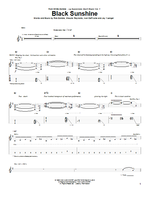 White Zombie - Search Results : Sheet Music Direct