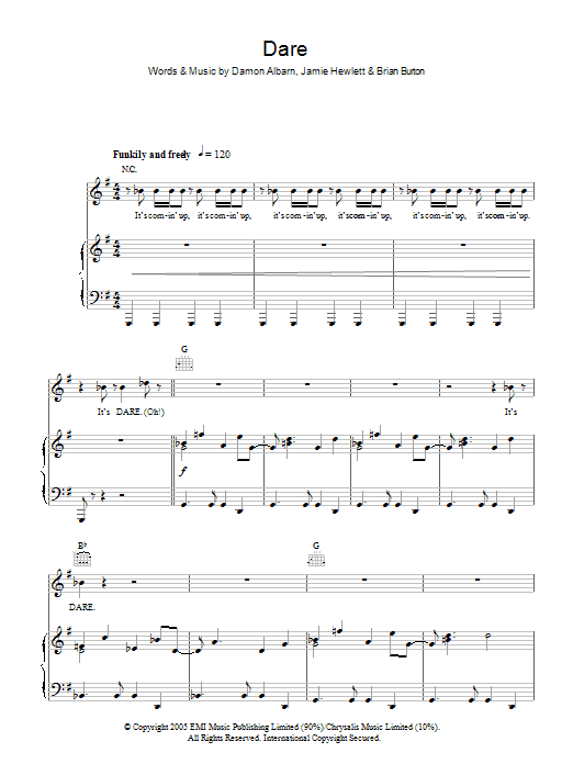 Sheet Music Digital Files To Print Licensed Gorillaz Digital Sheet