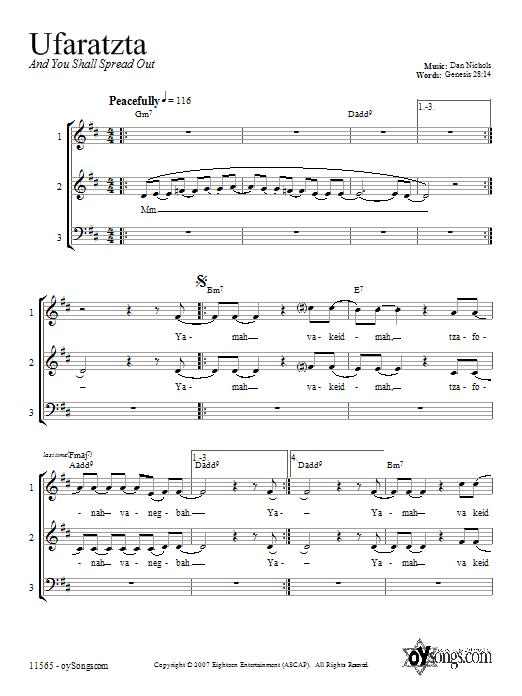 Partition autre Ufaratzta de Dan Nichols - 3 voix mixtes