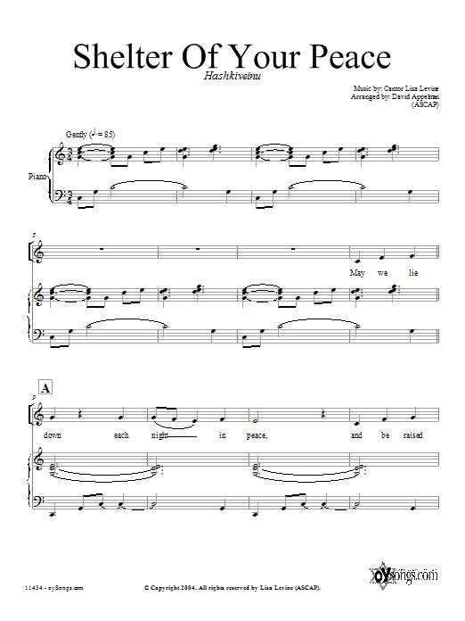 Partition chorale Shelter of Your Peace de David Appelman - SATB