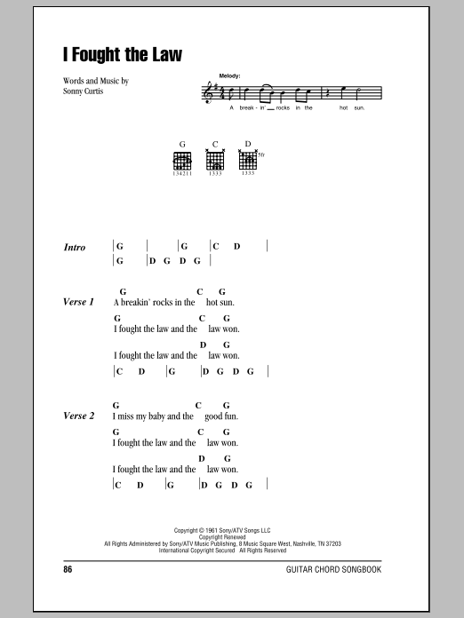 Sheet Music Digital Files To Print - Licensed Punk Digital Sheet Music