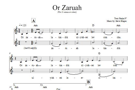 Steve Klaper - Or Zaruah