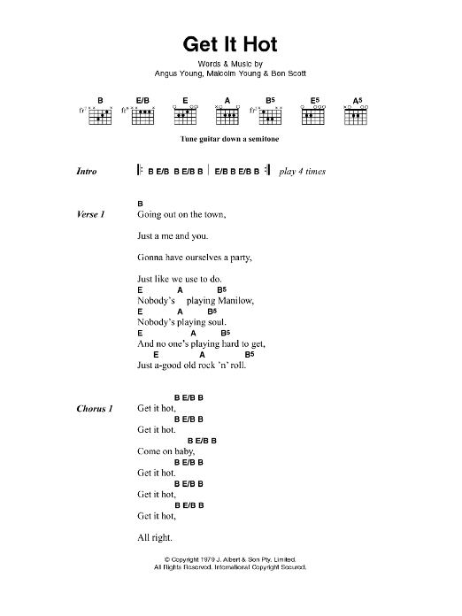 Sheet Music Digital Files To Print - Licensed Bon Scott Digital ...
