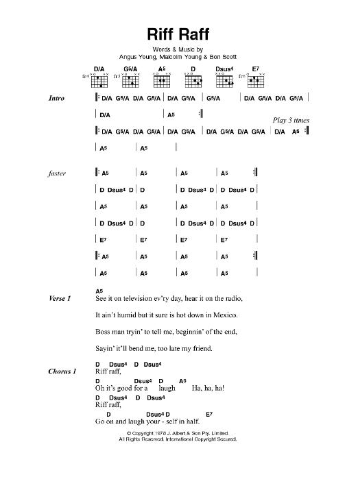 Sheet Music Digital Files To Print - Licensed AC/DC Digital Sheet Music