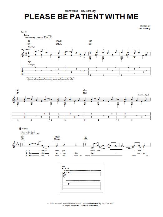 Tablature guitare Please Be Patient With Me de Wilco - Tablature Guitare
