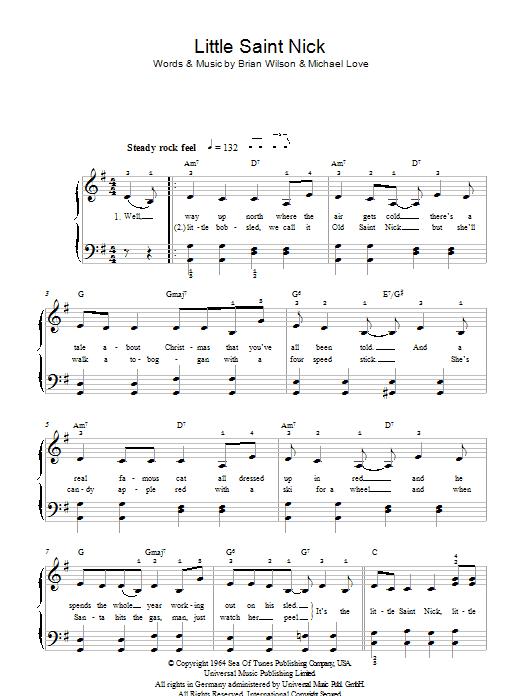 Little Saint Nick Sheet Music Direct