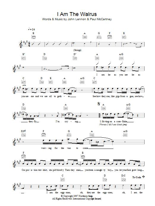 Am The Walrus | Sheet Music DirectI'm The Walrus Lyrics