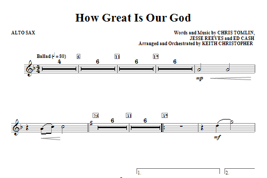 our god is greater sheet music pdf