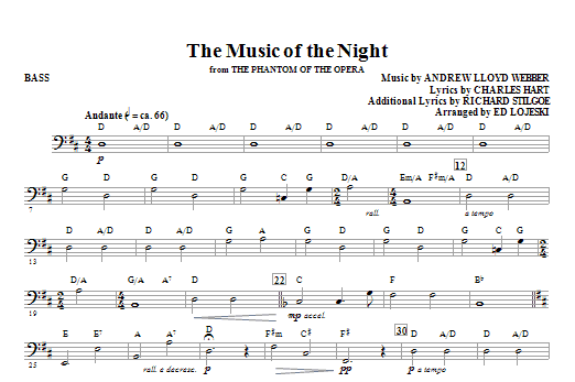 The Music Of The Night From The Phantom Of The Opera