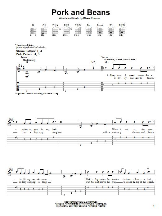 Sheet Music Digital Files To Print - Licensed Weezer Digital Sheet Music