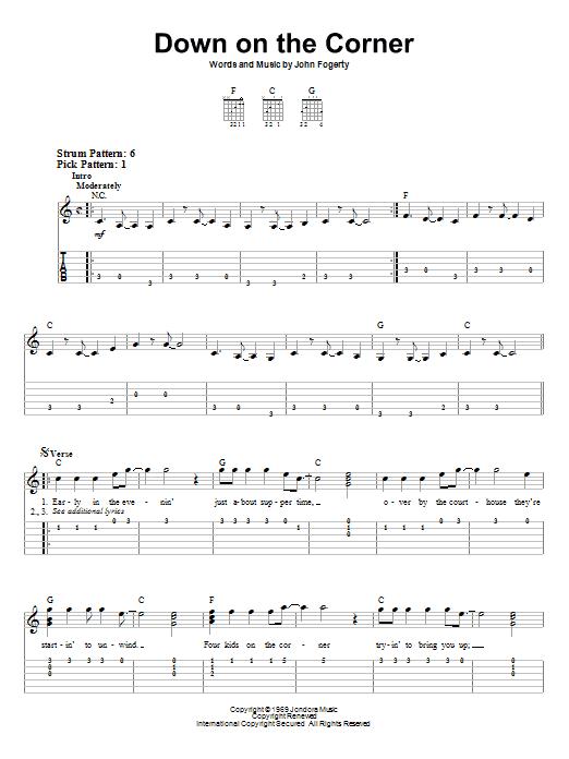 Bad moon rising lyrics chords