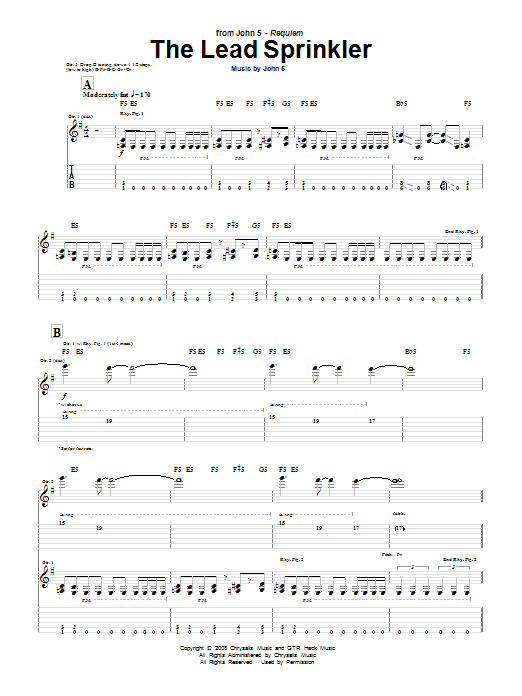 The lead sprinkler by john 5 guitar tab guitar instructor for How do you read a blueprint