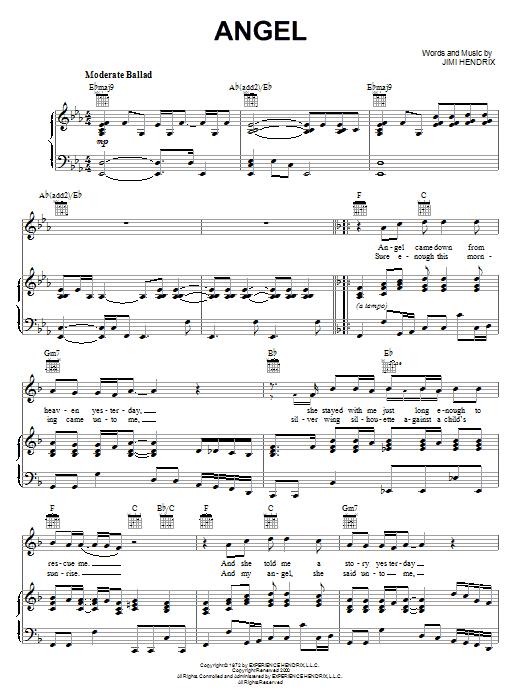 Sheet Music Digital Files To Print Licensed Jimi Hendrix Digital