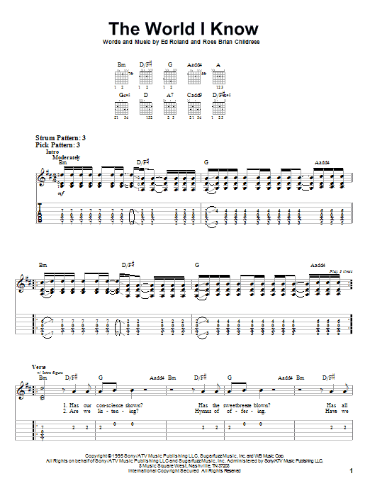 Collective Soul - The World I Know (Chords)