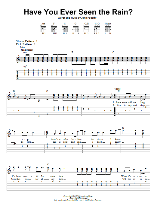 Have You Ever Seen The Rain Sheet Music Direct